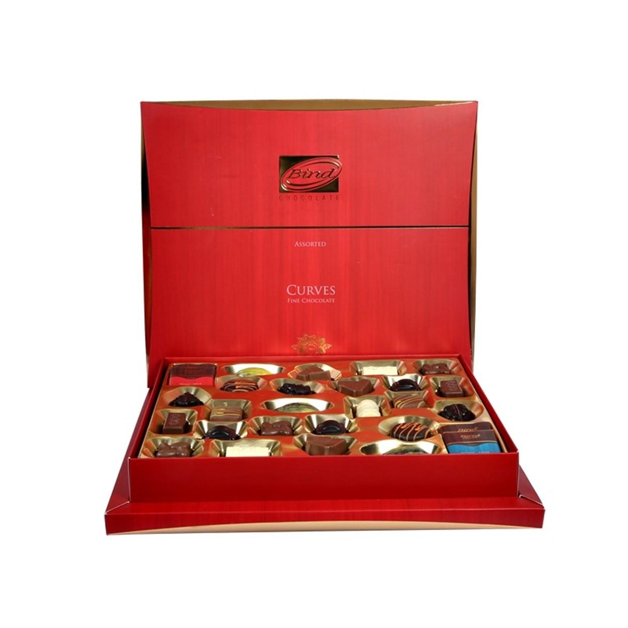 Конфеты шоколадные ассорти Curves Fine Chocolate BIND фото