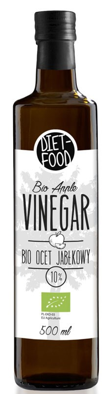 Оцет Яблучний 10% БІО Diet-Food фото