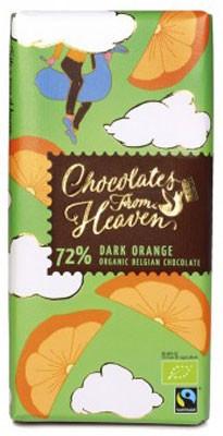 Шоколад черный 72% с апельсином Klingele фото
