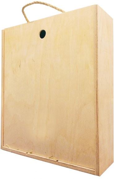 Короб подарочный деревянный (на 3 бутылки) фото