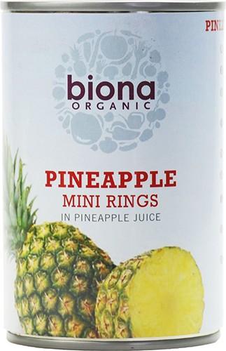 Ананасовые мини кольца в ананасовом соке Biona Organic фото