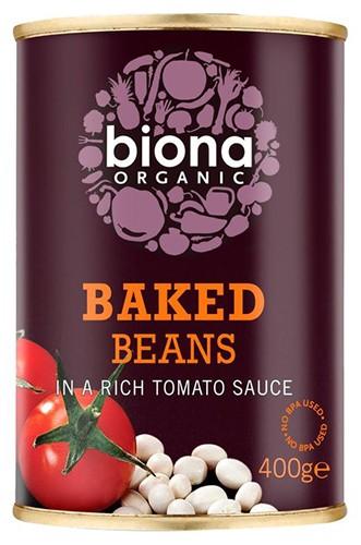 Запечені боби в томатному соусі Biona Organic фото