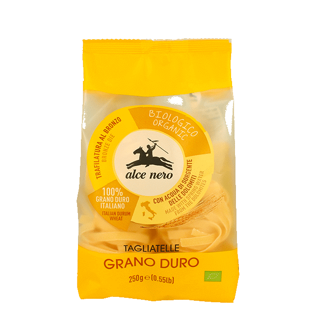 Паста Тальятелле из твердых сортов пшеницы Alce Nero фото