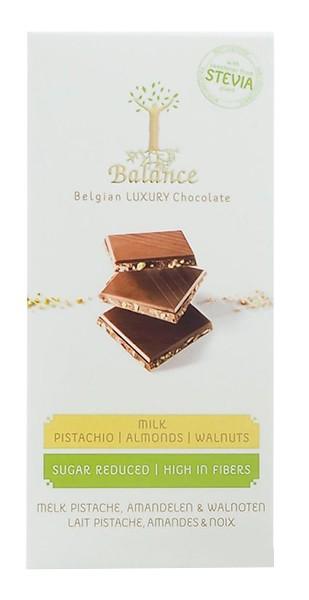 Шоколад молочный без сахара с фисташками, миндалем и грецким орехом Klingele фото