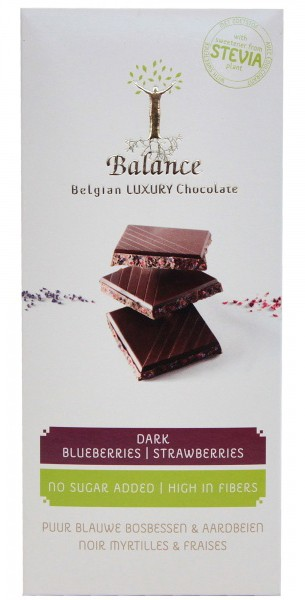 Шоколад черный без сахара черника - клубника Klingele фото