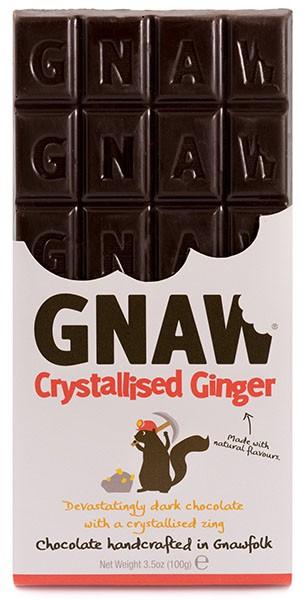 Шоколад черный Бельгийский с молотым засахаренным имбирем Gnaw фото