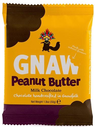 Шоколад молочный Бельгийский с арахисовым маслом Gnaw фото