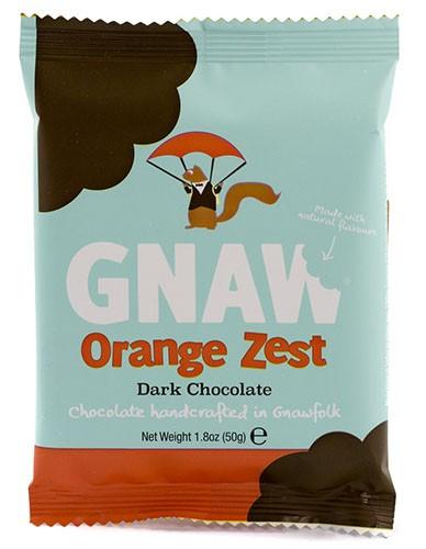 Шоколад черный Бельгийский с апельсином Gnaw фото