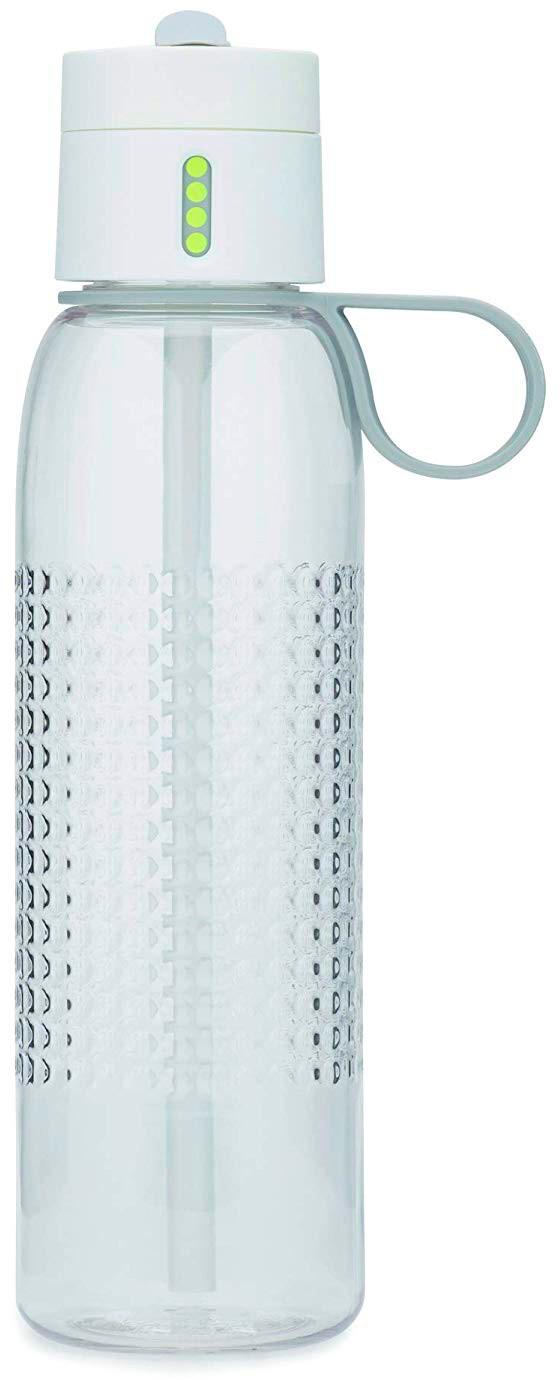 Пляшка для води білого кольору Joseph Joseph Dot Active фото