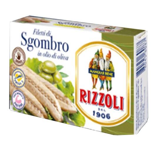 Скумбрия гриль в оливковом масле Rizzoli фото