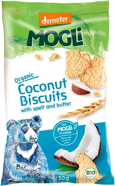 Печиво вершкове органічне зі спельти з кокосом Mogli фото