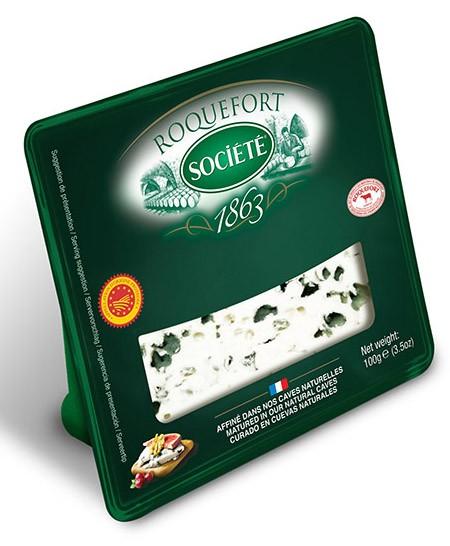 Cыр с голубой плесенью Societe Roquefort 52% фото