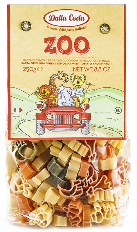 Паста Зоопарк с томатом и шпинатом Dalla Costa фото