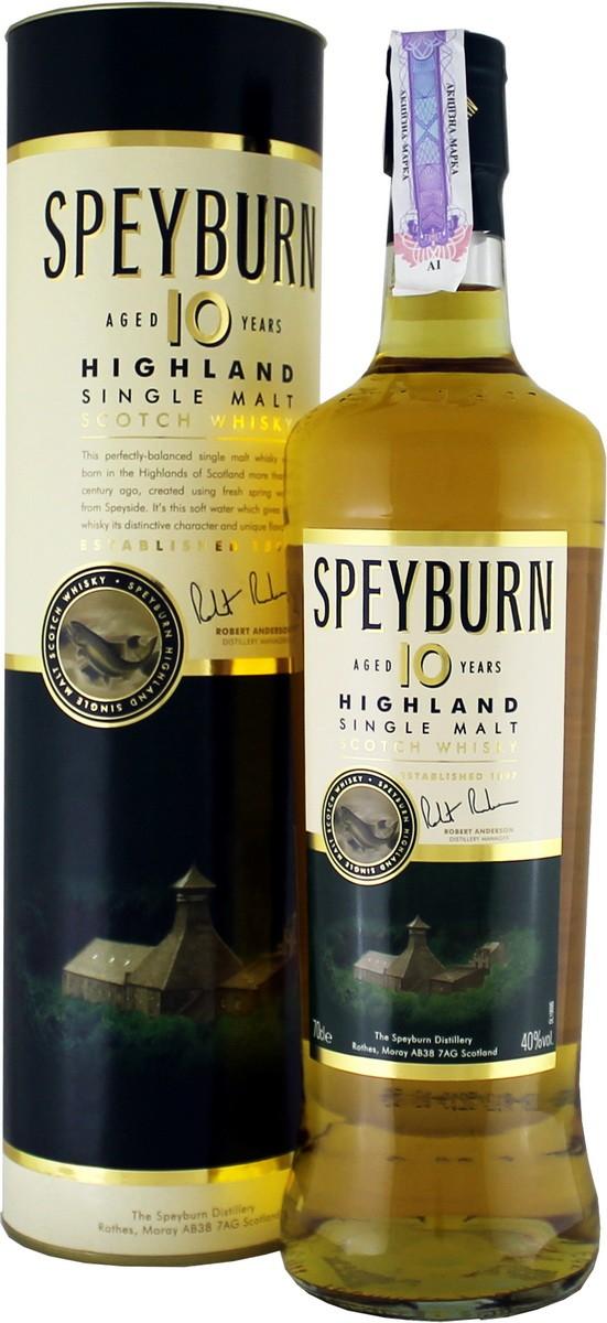 Speyburn 10 Y.O. (в тубусе) фото