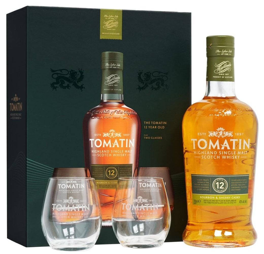 Tomatin Distillery Tomatin 12 Y.O +2 бокала фото