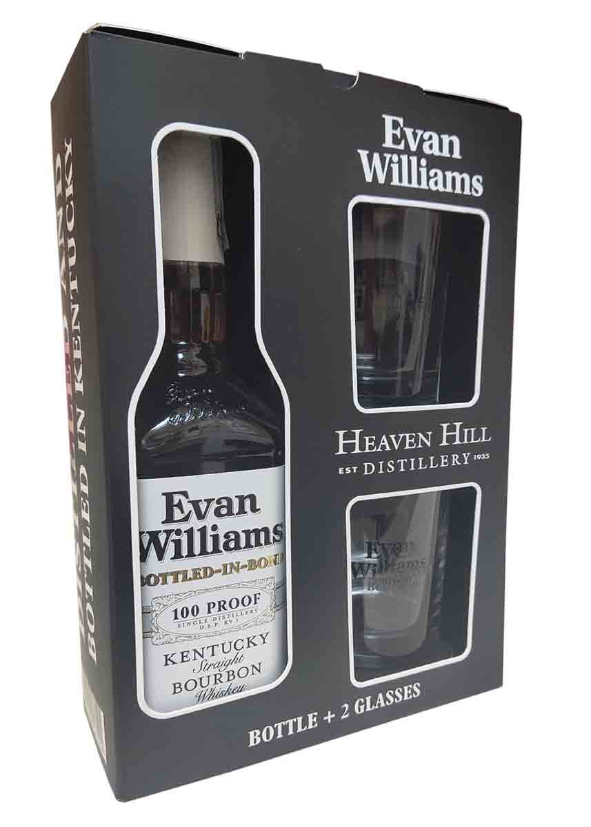 Evan Williams Bottled in Bond + 2 бокала фото
