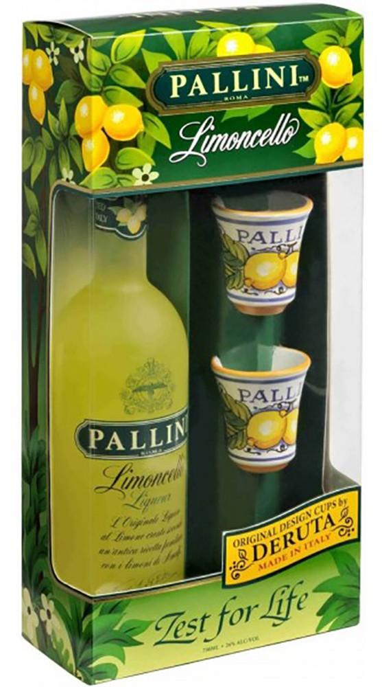 PalliniLimoncello с 2 рюмками фото