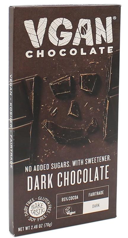 Вегетарианский черный шоколад без сахара VGAN фото