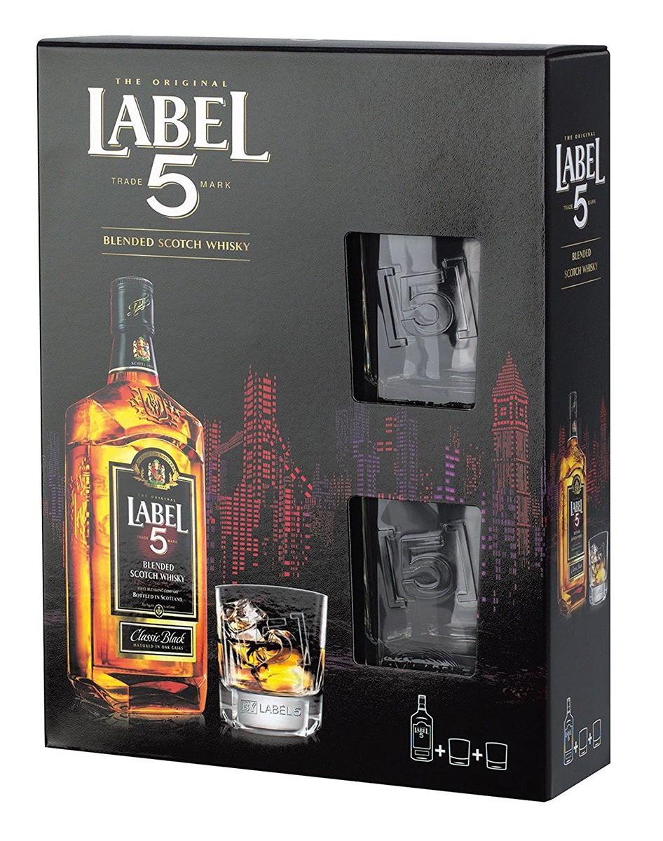 Label 5 Сlassic Black + 2 glasses фото