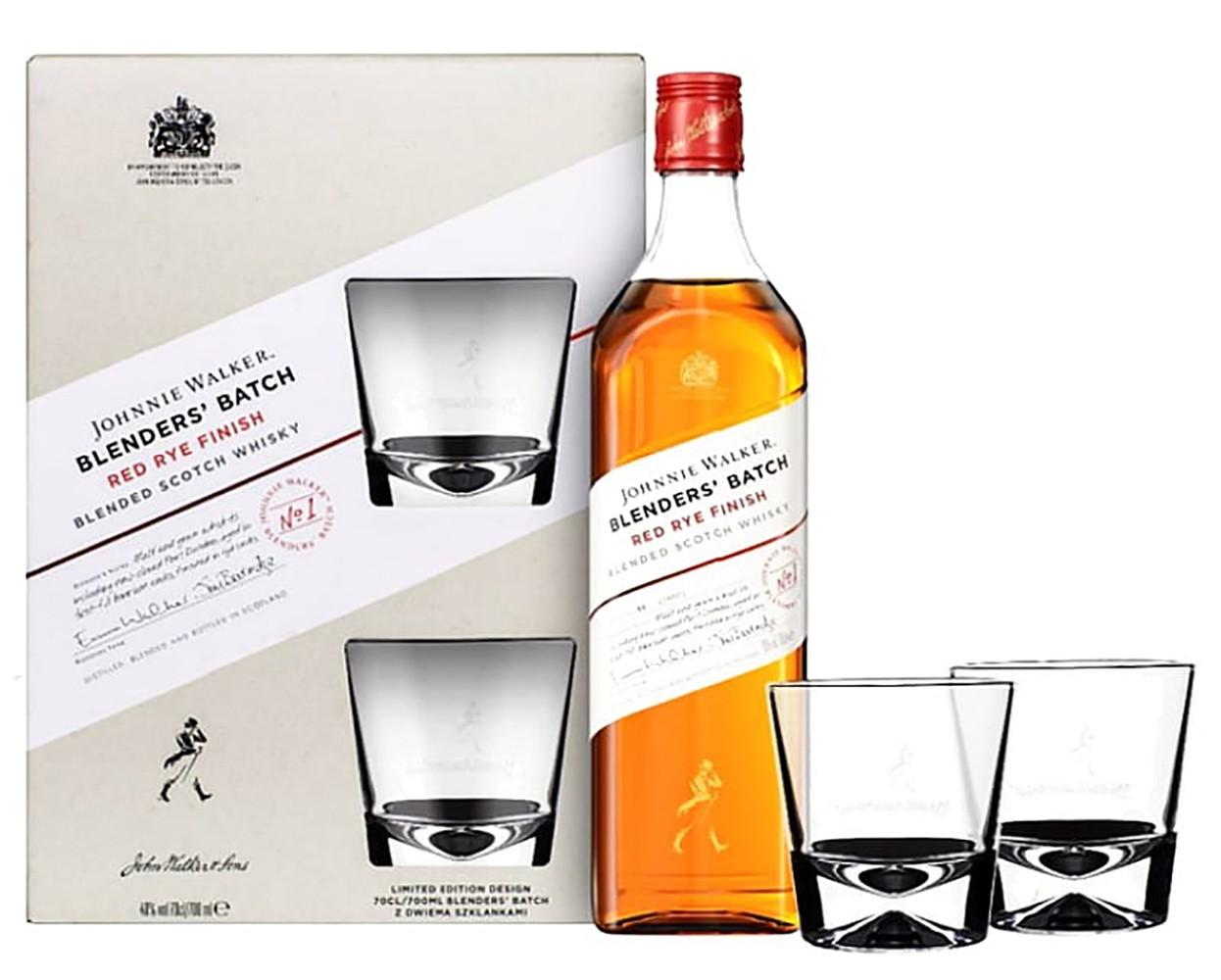Johnnie Walker Red Rye Finish + 2 glasses фото