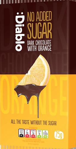 Шоколад черный без добавления сахара с апельсином Diablo фото