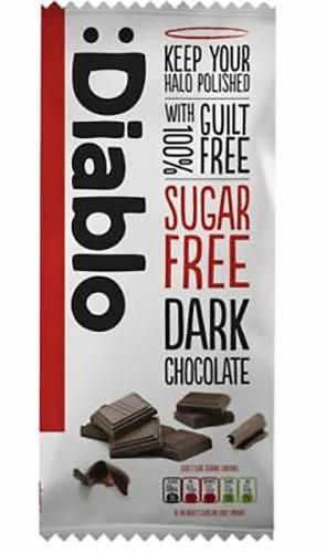 Черный шоколад без добавления сахара Diablo фото