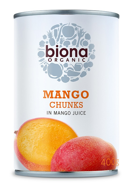 Шматочки манго в соку манго Biona Organic фото