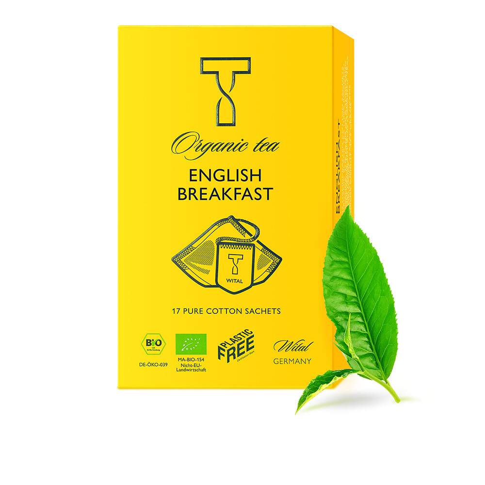 Чай органический черный English Breakfast Wital (в пакетиках) фото