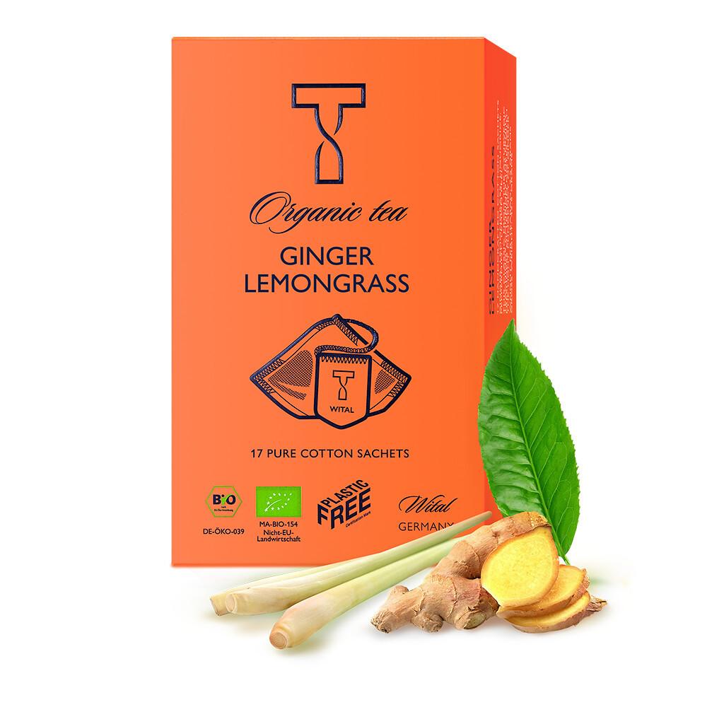 Чай органический Ginger Lemongrass Wital (в пакетиках) фото