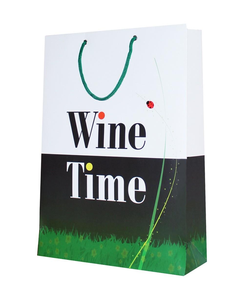 Пакет подарочный «Весенний» Wine Time фото