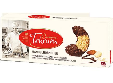 Tekrum Mandelhornchen марципановое с черным шоколадом фото