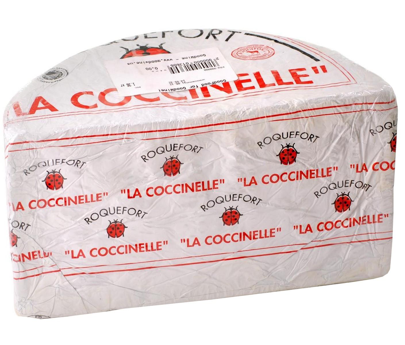 Сыр с голубой плесенью Roquefort Papillon La Coccinelle фото