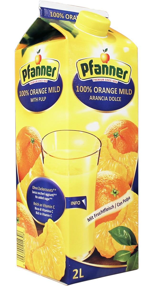 апельсиновий з м'якоттю Pfanner фото