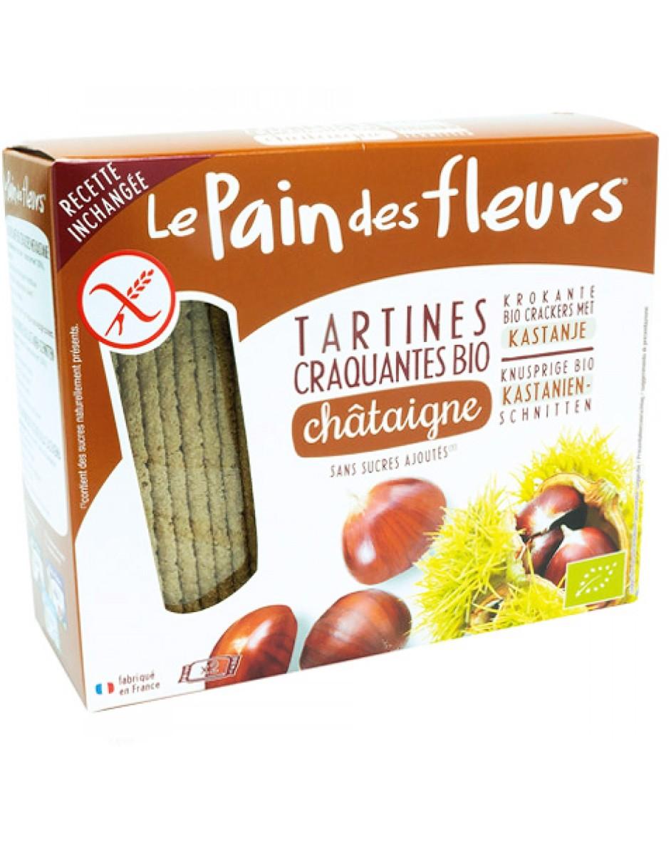Хлебцы органические хрустящие из каштана Le Pain des Fleurs Euro-Nat фото