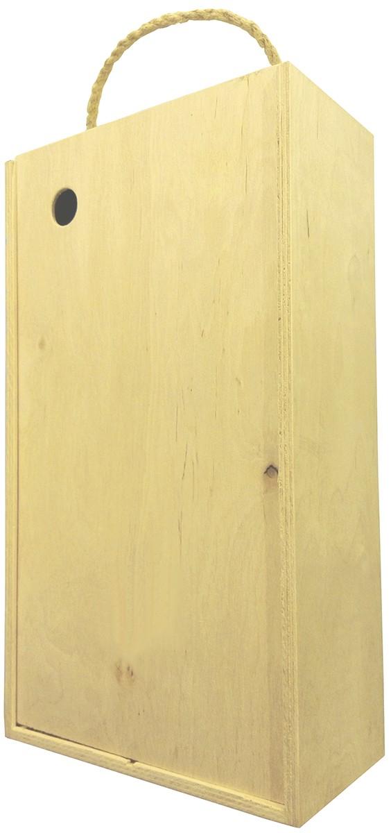 Короб подарочный деревянный (на 2 бутылки) фото