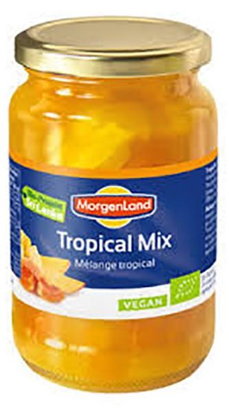 Тропічні фрукти шматочками в соку органік Morgenland фото