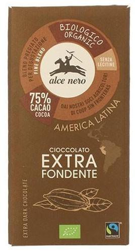 Шоколад черный 75% Fairtrade America Latina Alce Nero фото
