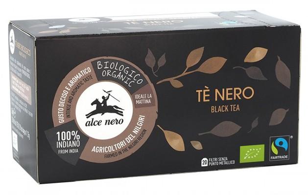 Чай черный органический Fairtrade Индия Alce Nero (в пакетиках) фото