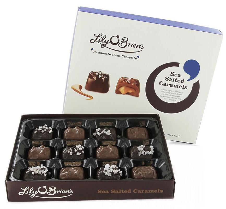 Конфеты Соленая карамель в черном и молочном шоколаде Lily O'Brien's фото