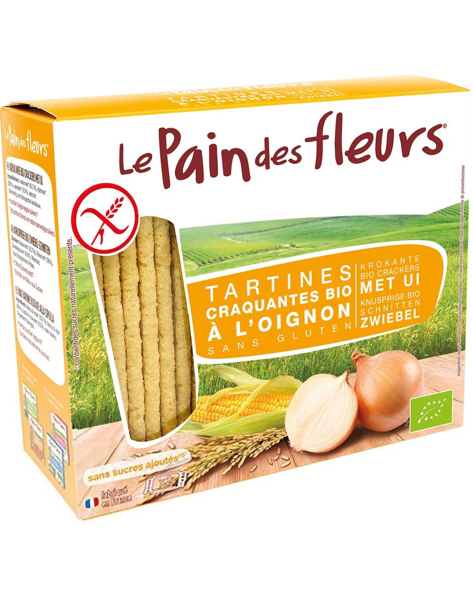Хлебцы органические хрустящие с луком Le Pain des Fleurs Euro-Nat фото
