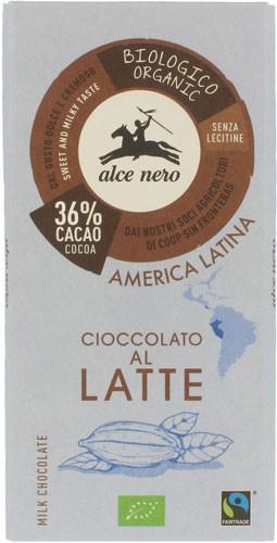Шоколад молочный Fairtrade America Latina Alce Nero фото