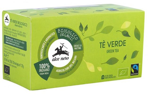 Чай зеленый органический Fairtrade Индия Alce Nero (в пакетиках) фото