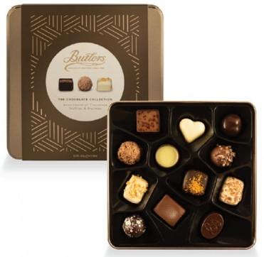 Цукерки шоколадні у металевій коробці Butlers фото