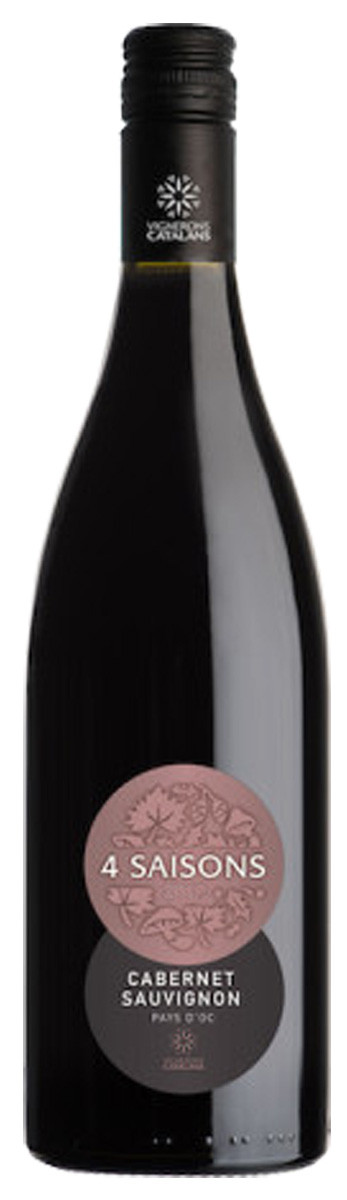 Вино Vignerons Catalans IGP Pays d'Oc 4 Saisons Cabernet Sauvignon черв.сухе фото
