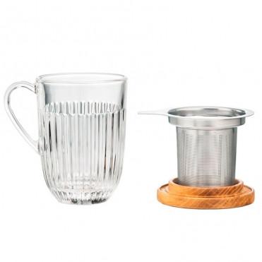 Чашка + ситечко + дерев'яна кришка La Rochere фото