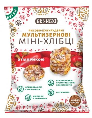 Мини-хлебцы мультизерновые ЕКИ-НЕКИ (кукурузно-рисовые) с паприкой фото