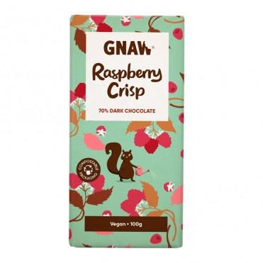 Шоколад черный 72% из хрустящей малиной Gnaw фото