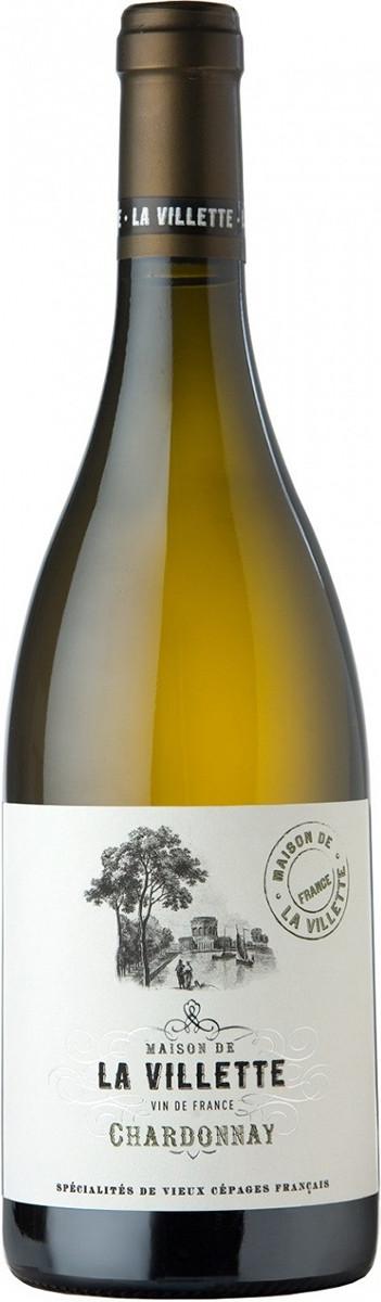 Вино La Villette Chardonnay біле сухе фото
