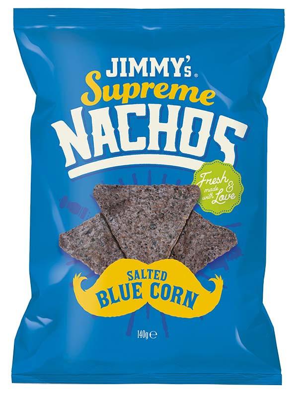 Чипсы Начос с синей кукурузы Jimmy's Supreme фото