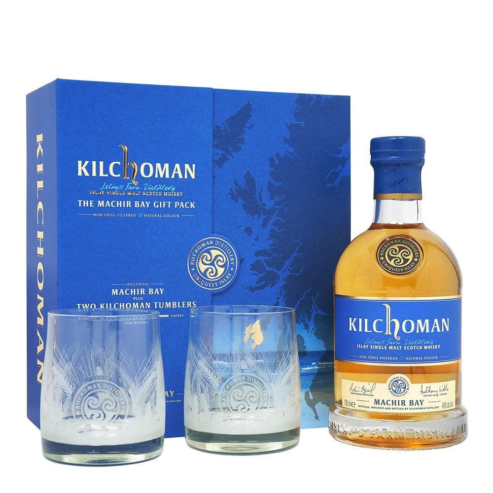 Kilchoman Machir Bay с 2 бокалами фото